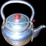 Charming Vintage Aluminum Metal Ware Teapot Strainer