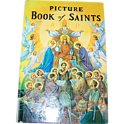 Vintage Hard Bound Book Picture Book of Saints C. 1979