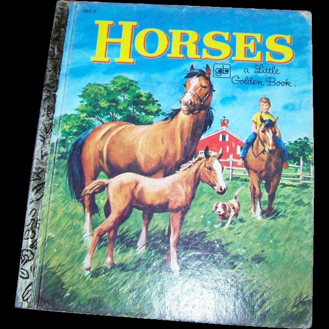 Children's Book Horses A Little Golden Book #202-2