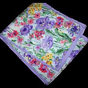 Beautiful Cheerful Mixed Floral Scarf Rectangular  Shape
