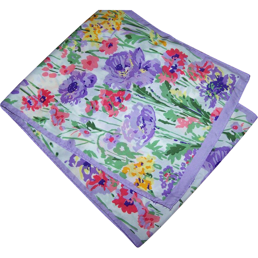 Beautiful Cheerful Mixed Floral Scarf Rectangular  Shape