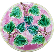 Vintage Collectible Majolica Leaves Plate Griffin Smith and Hill