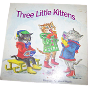 Three Little Kittens Soft Cover Book Booklet Lilian Obligado ILL.