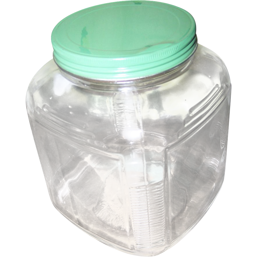 Depression Era Hoosier Cabinet Kitchen Glass Storage Jar From Victoriasjems On Ruby Lane