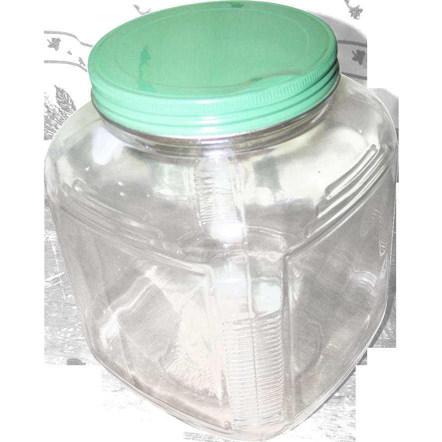 Depression Era Hoosier Cabinet Kitchen Glass Storage Jar