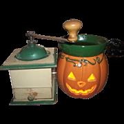 Collectible Vintage Metal and Wood Coffee Bean Grinder