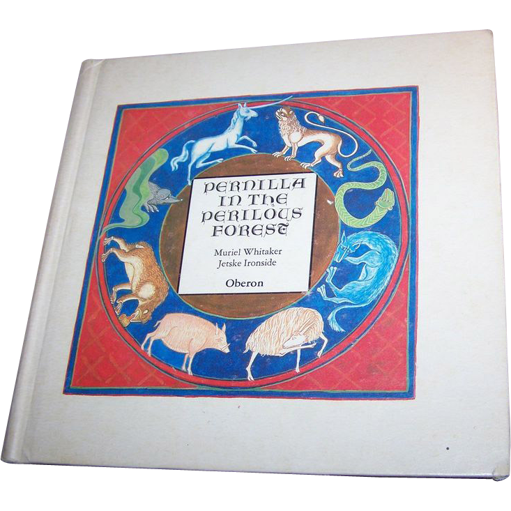 Collectible Hard Cover Vintage Book Pernilla in the Perilous Forest