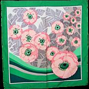 Charming Vintage Ladies Flower Floral Pattern Scarf