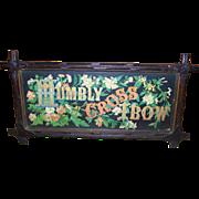 Religious Motto Print Criss Cross Wood Frame
