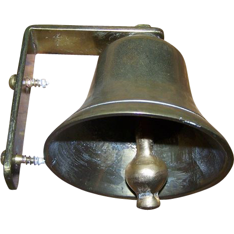 Vintage Brass Door or Wall Mount Bell