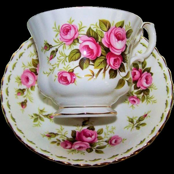 Royal Albert Tea Cup and Saucer Roses June
