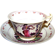 Symbolic Old Faith Hope and Charity Tea Cup & Saucer