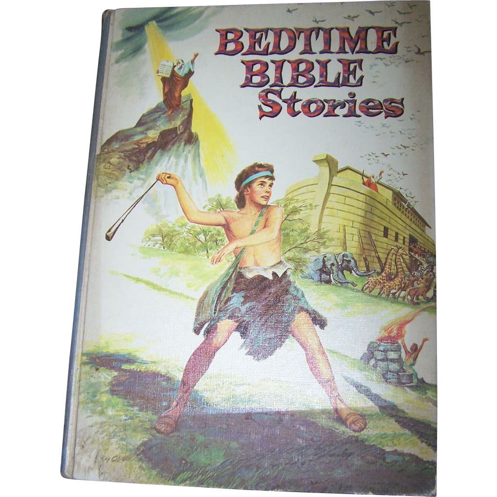 Vintage Bedtime Bible Stories  Children's Book Whitman Publishing MCMLV