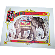 "Soft Bound Book Booklet "" Jumbo The Biggest Elephant in all the World """
