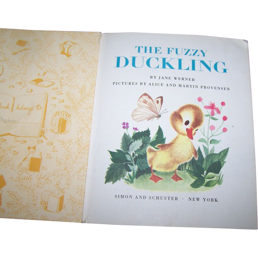 """Children's Collectible Vintage Book """" The Fuzzy Duckling """""""