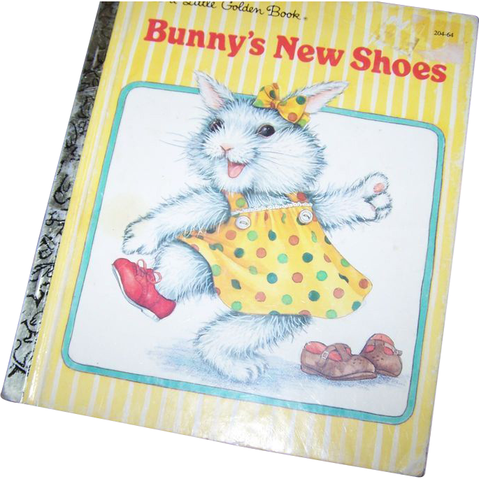 Collectible Vintage Children's Book Bunny's New Shoes Charming Illustrations