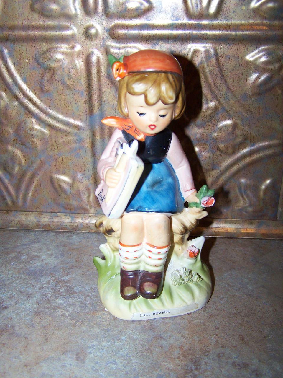 Vintage Ceramic Hummel Style Figurine By Erick Stauffer  Little Bohemian