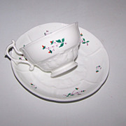 Very Old Sprig Ware Tea Cup & Saucer Set 929