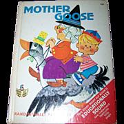 Vintage Children's Book  Mother Goose Rand McNally Elf Book
