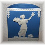Vintage Jasperware Vase / Holder Stamped Germany Impressed Number