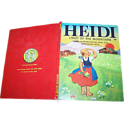 Heidi Child of the Mountains Wonder Book C. 1950