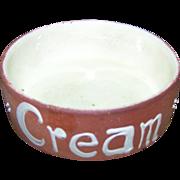 Rare Vintage C.H. Brannam Barum N. Devon Terra Cotta Potter Cream Dish Bowl