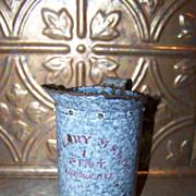 Vintage Advertising Granite Ware Pint McClary London