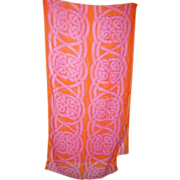 ECHO Ladies Long Rectangular Graphic Scarf Oh So Pretty !