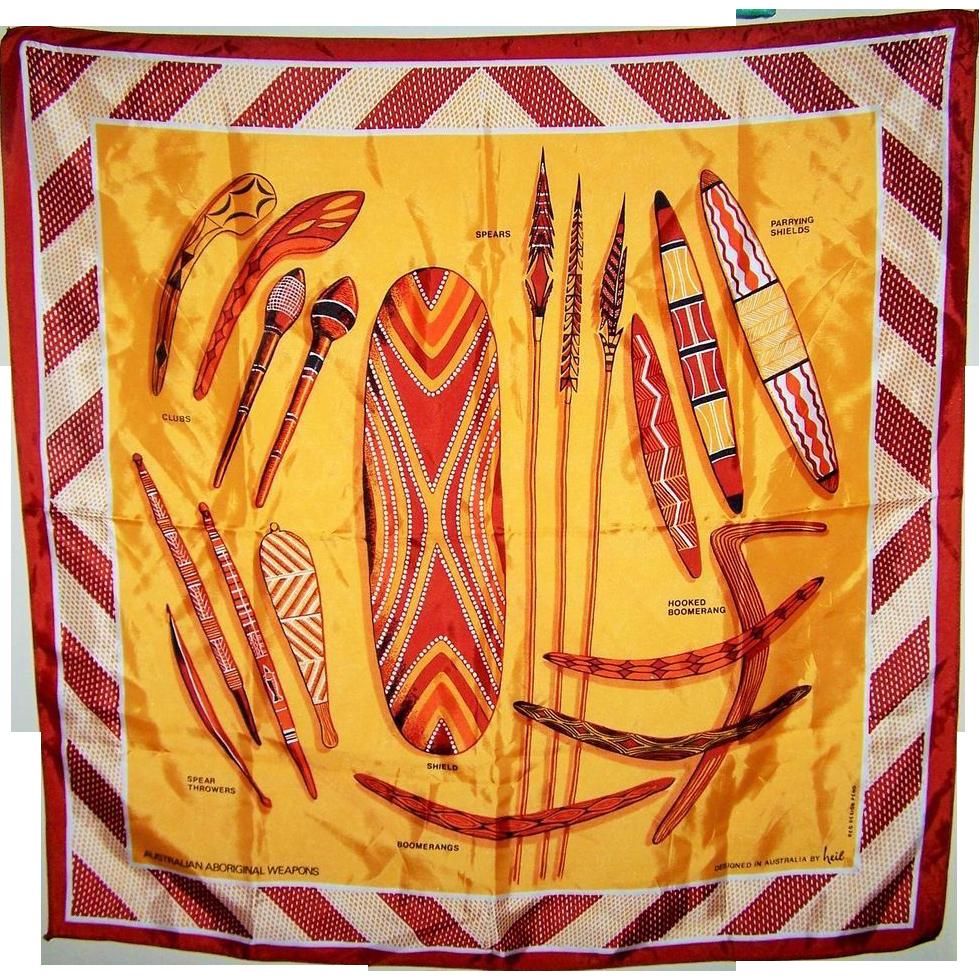 Novelty Australian Aboriginal Weapons Heil Souvenir Scarf