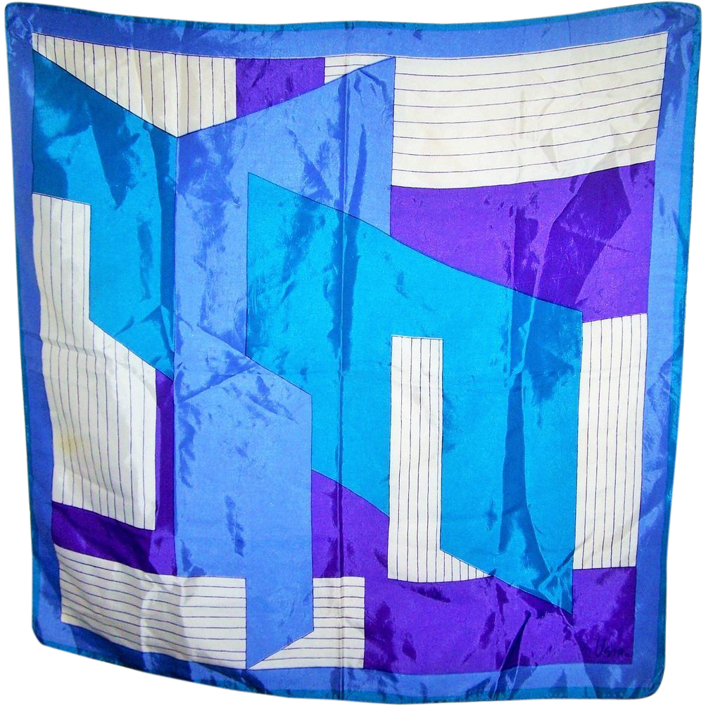 Designer vera neumann geometric print ladies vintage scarf for L furniture warehouse victoria bc
