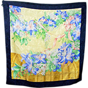 Pretty As A Picture Designer Signed erre Mixed Floral Motif Silk Scarf
