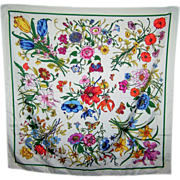 Oh So Pretty Mixed Flower & Buttery Ladies Scarf