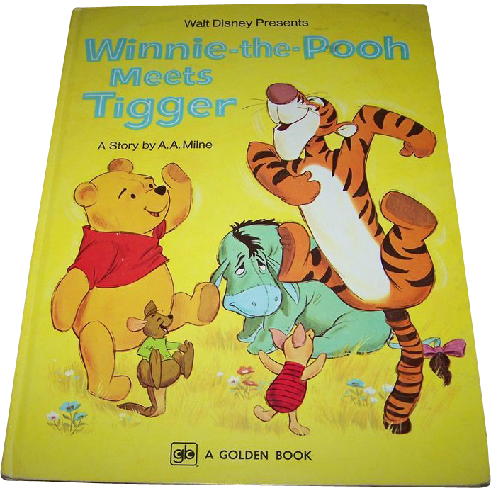 Children's Book Winnie-the-Pooh Meets Tigger By A . A. Milne A Golden Book