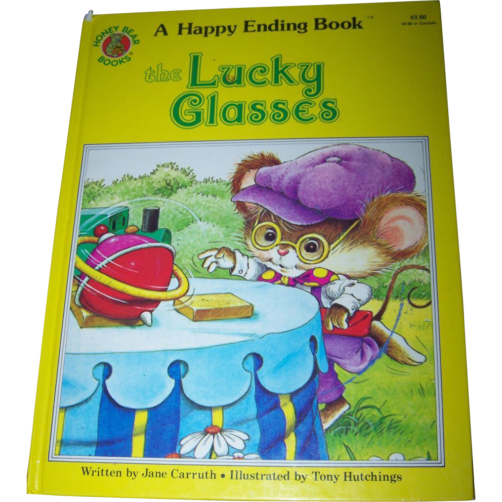 "Over Sized Children's Book  A Happy Ending Book "" The Lucky Glasses "" Honey Bear Books"