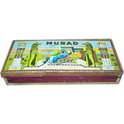 Advertising Murad Smoking Tobacco Tin Turkish Deco 1920s Egypt Pyramids