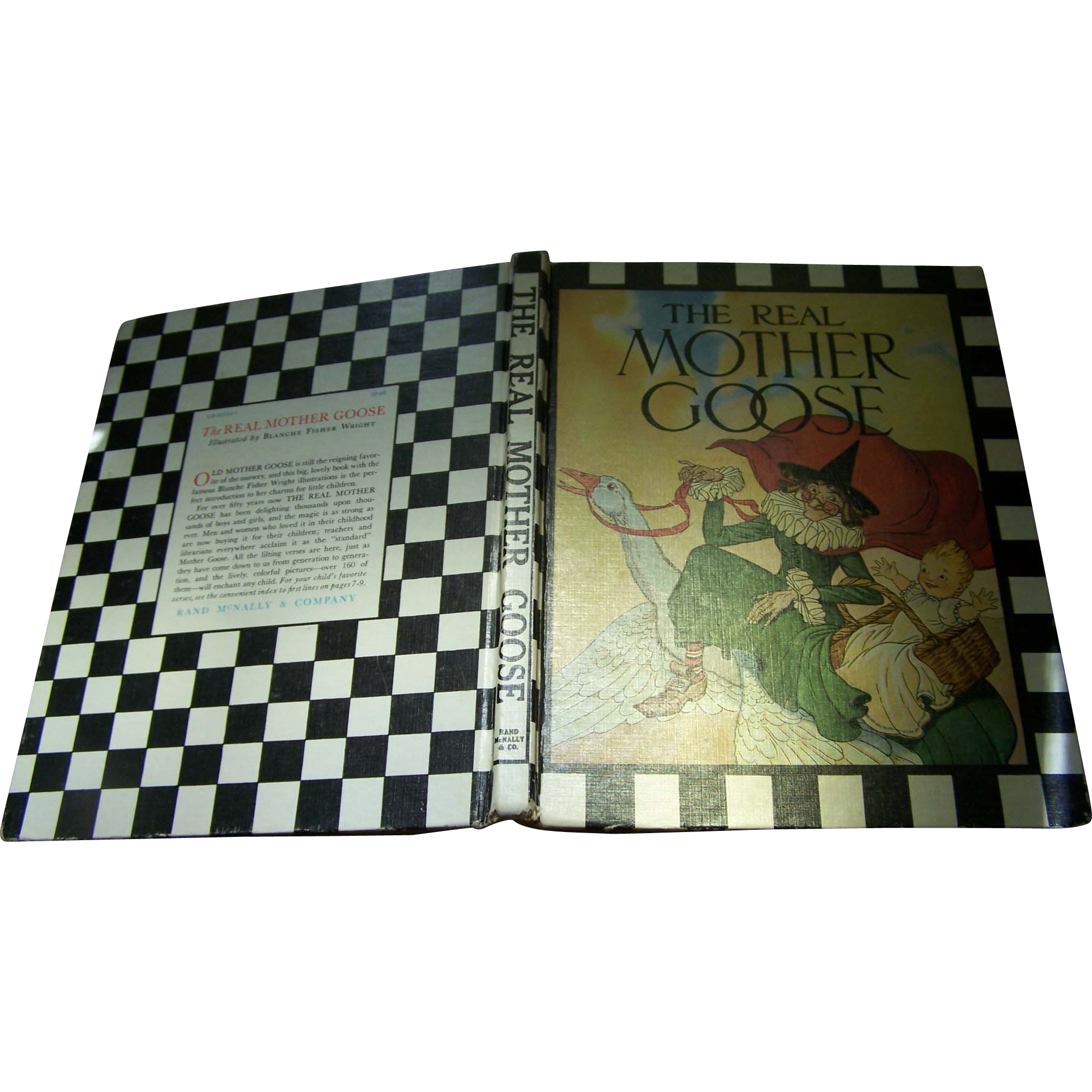 "Children's Vintage Illustrated Collectible Book"" The Real Mother Goose """