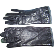 Ladies Genuine Black Leather Gloves By Fownes Ladies Medium