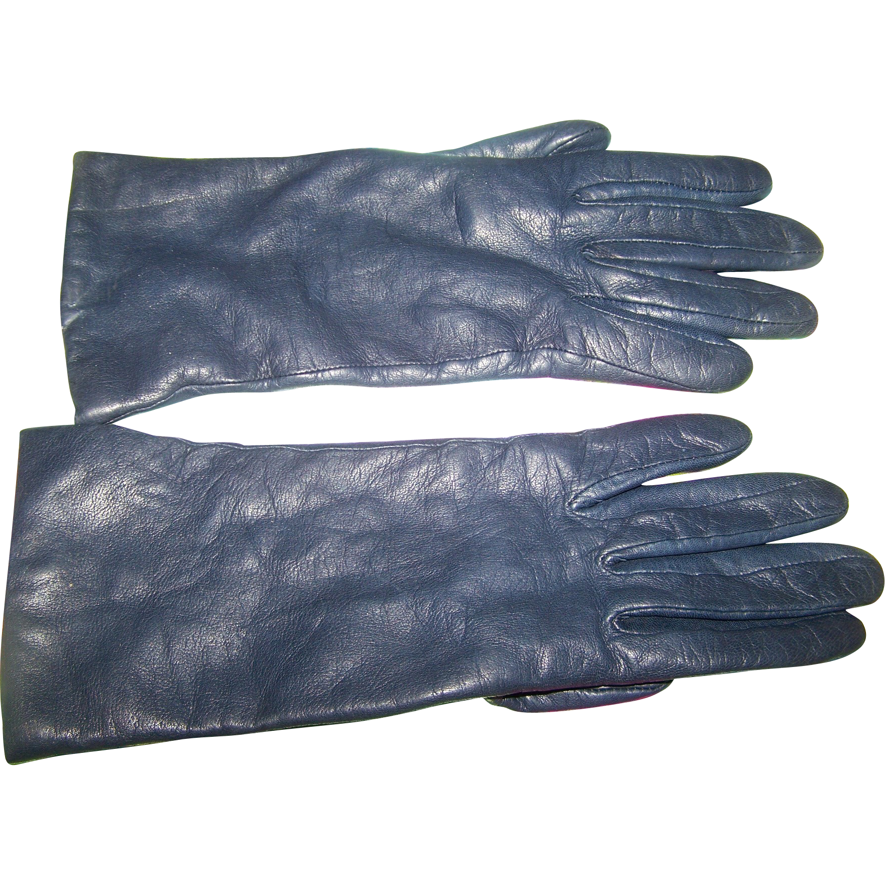Blue leather gloves ladies uk - Gently Vine Navy Blue Las Leather Gloves From Eaton