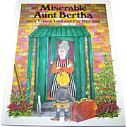 "Vintage Hard Covered Children' s Book "" Miserable Aunt Bertha """
