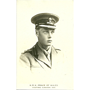 Vintage Royalty Picture  PostCard H.R.H. Prince of Wales Visiting Canada 1919  KING EDWARD VIII