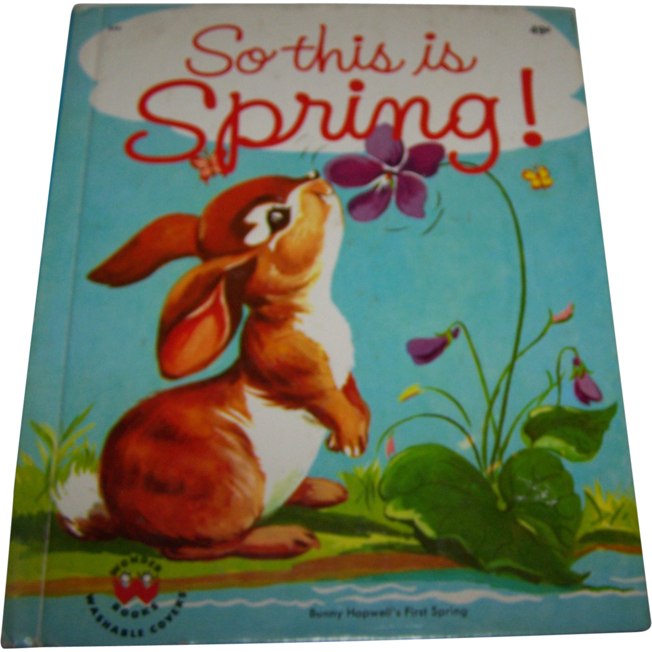 "A Charming Children's Vintage Book :  "" So This Is Spring "" Bunny Hopwell's First Spring"