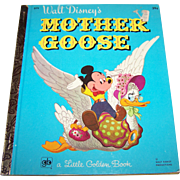 "A Vintage Walt Disney's "" Mother Goose "" Children' s Book WDP"