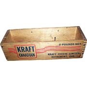 Vintage Collectible Advertising Small Kraft Canadian Cheese Box   QUEBEC
