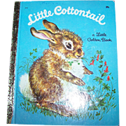 "Charming Vintage  Little Golden Book "" Little Cottontail """