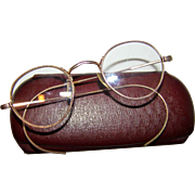 Vintage  Gold Plated Spectacles Glasses Eye Wear Regal Perfex