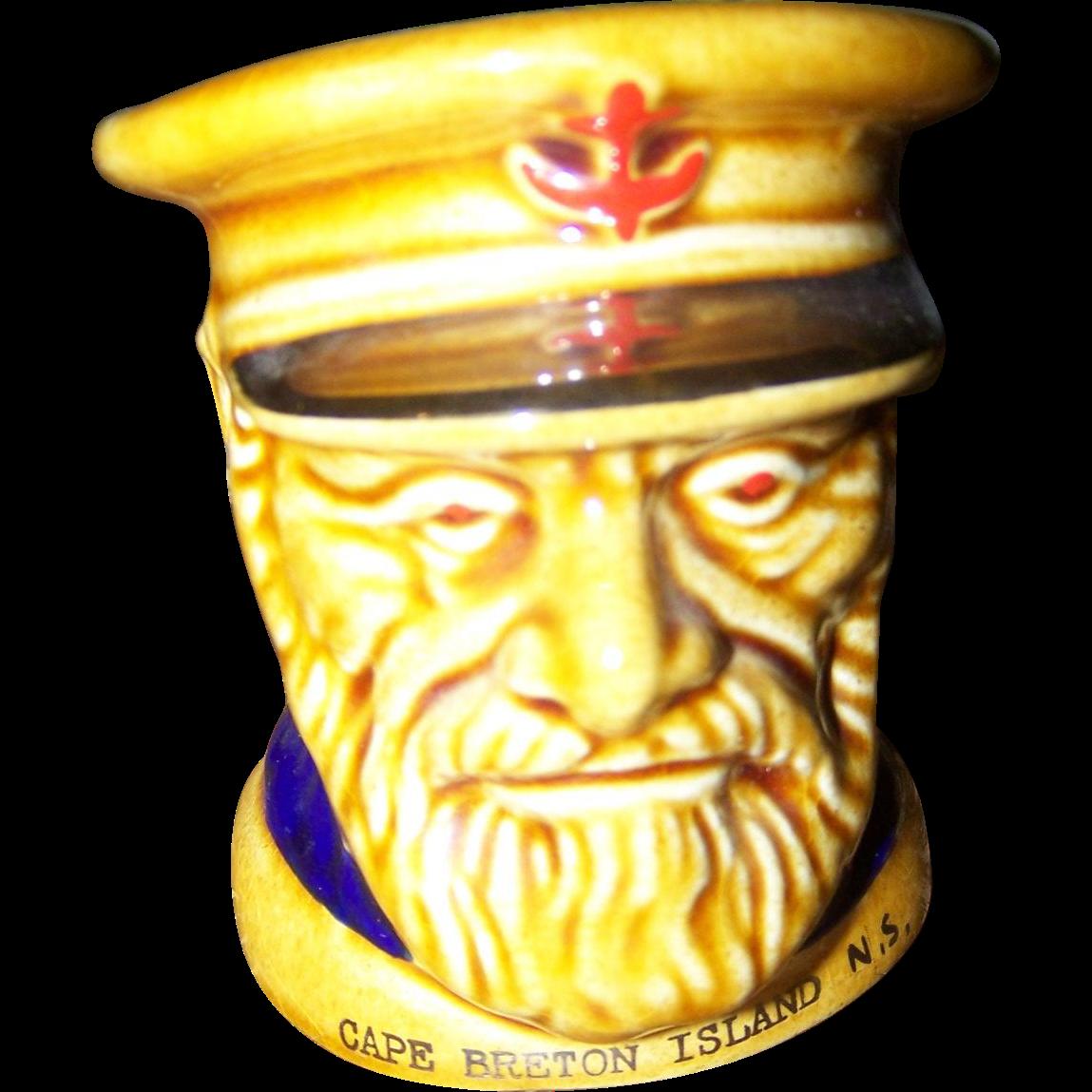 Lord Nelson Ware Fisherman Mug Souvenir Cape Breton Island Nova Scotia