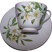Shelley Fine Bone China Tea Cup Saucer Set Floral Syringa Flower of Idaho