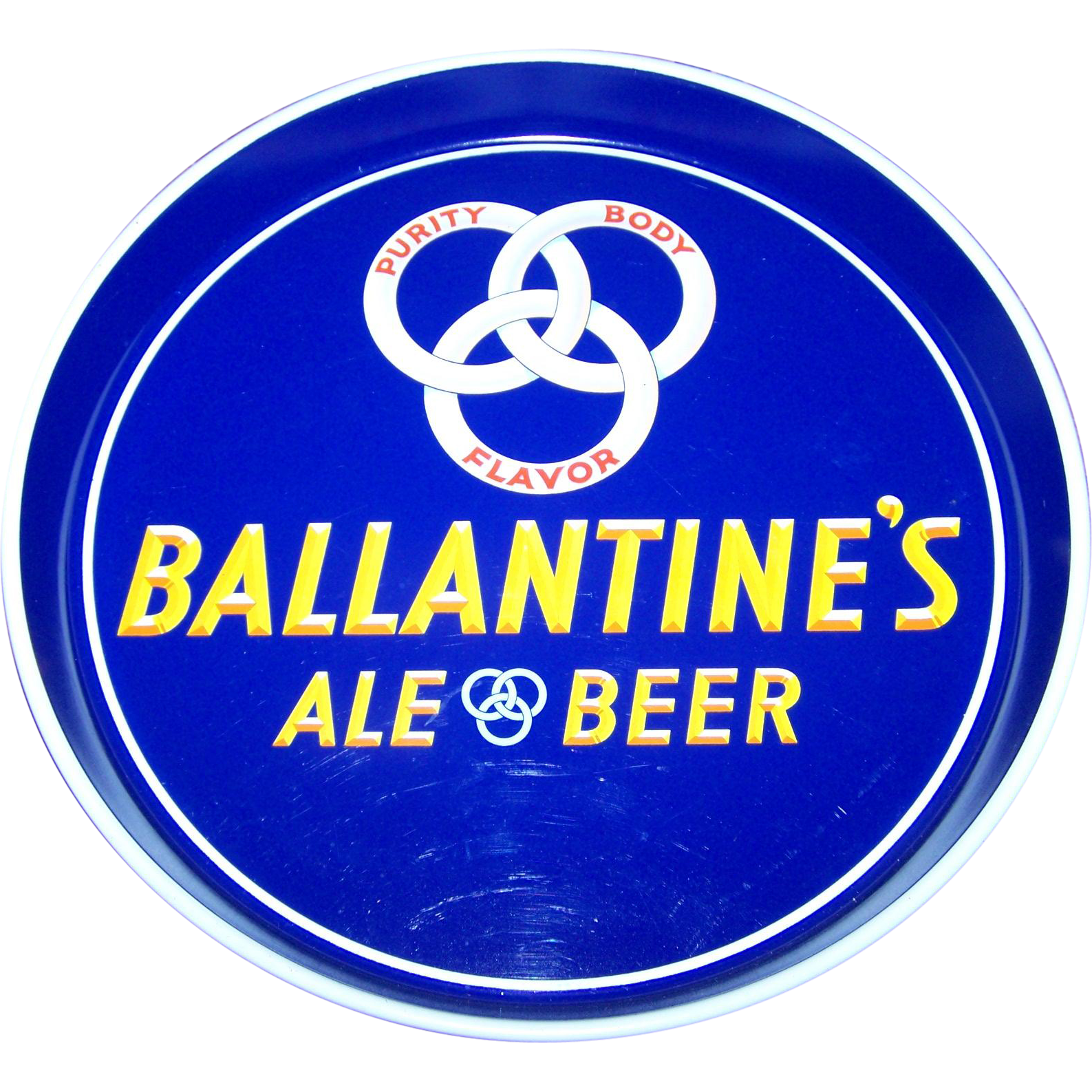 Vintage Advertising Tin Litho Tray Ballantine's Ale Beer