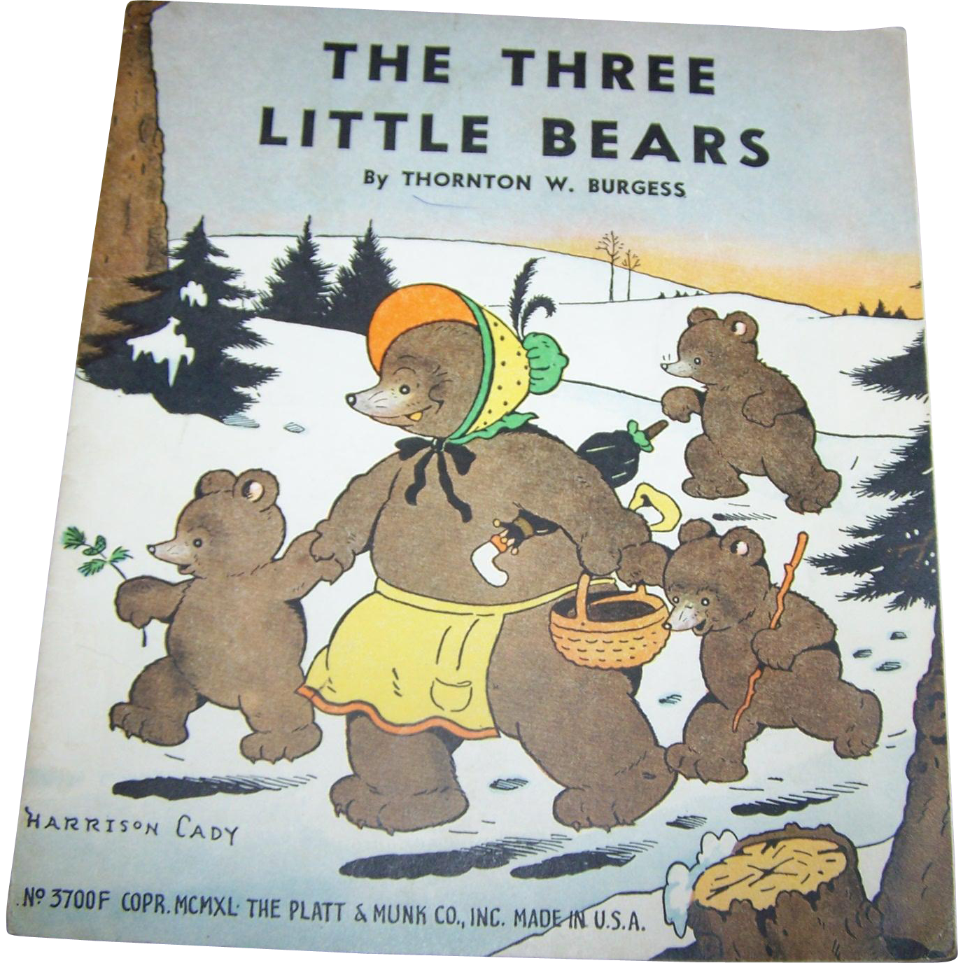 "Paper Booklet Book  "" The Three Bears ""  Illustrated by Harrison Cady"