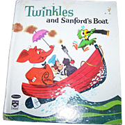 Twinkles and Sanford's Boat Vintage Children's Book Whitman Top Tales #2477